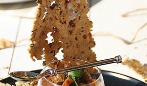 Verrine orientale et sa galette au cumin