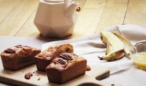 Cake banane miel et noisettes