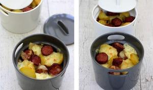 Cocotte de pommes de terre façon raclette