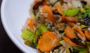 Poêlée de légumes aux riz