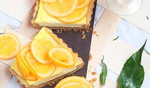 Tarte aux oranges, labné et romarin