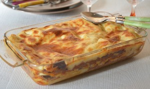 Lasagnes au chorizo et poivron