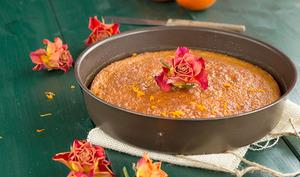 Gâteau à la mandarine et fleur d'oranger