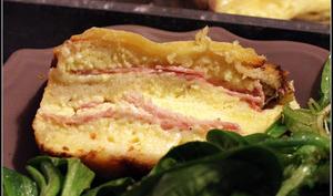 Croque cake à la raclette