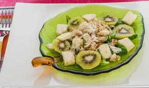 Salade de crabe au kiwi
