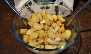 Salade de pommes de terre et sa vinaigrette balsamique