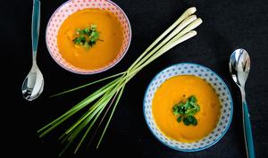 Soupe de courge butternut d'Alsace, coco et citronnelle