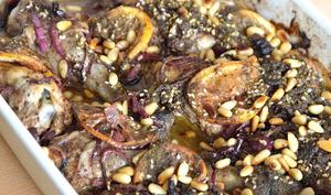 Poulet rôti au sumac, zaatar et citron