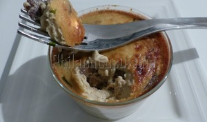 Flan aux champignons et au parmesan