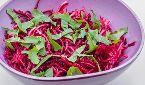 Salade de betterave crue et radis noir