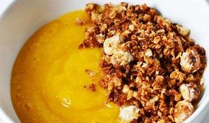 Purée mangue coco et Granola coco