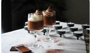 Mousse au chocolat et au café