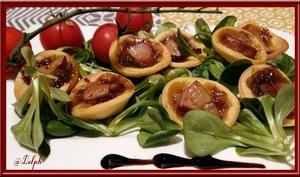 Tartelettes au confit d'oignons et Foie gras Labeyrie