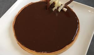 Tarte au chocolat au lait et cacahuètes de Pierre Hermé