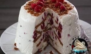 Gâteau sans cuisson framboises spéculoos