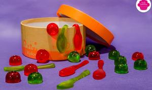 Bonbons maison type nounours ou vers de terre - parfums fraise et pomme