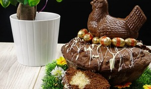 Gâteau au chocolat nid de pâques