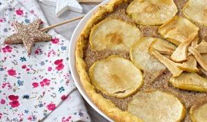 Une tarte aux pommes aux graines de sarrasin