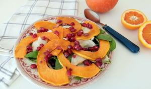 Salade au potimarron, fenouil et grenade