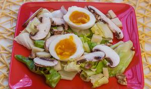 Salade de comté aux champignons et aux oeufs