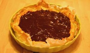 Tarte vegan banane chocolat