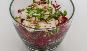 Salade de betterave crue au chèvre frais