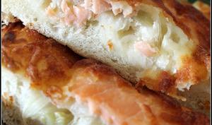 Pizza et foccacia fenouil, saumon fumé et mozzarella