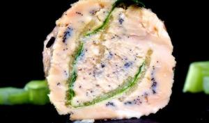 Maki de foie gras, pomme verte et vanille de Stéphane Jego