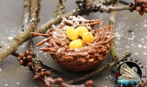 Nids de Pâques croustillants choco-coco