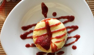 New York cheesecake au coulis de fruits rouges