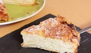 Gâteau crousti-fondant aux pommes
