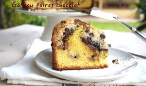 Gâteau poires chocolat et fève tonka