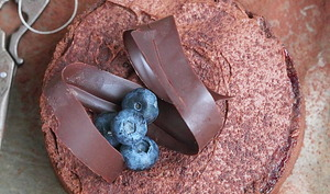 Tarte chocolat et myrtilles