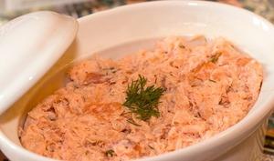 Rillettes aux deux saumons et Blinis