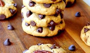 Cookies au beurre de cacahuete et aux pepites de chocolat