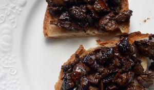 Crostini di fegato in agro dolce