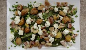 Salade de pois gourmands aux châtaignes
