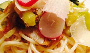Spaghettis poireaux citron en 30 mn chrono