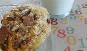 Cookies aux flocons d'avoine, coco et chocolat au lait