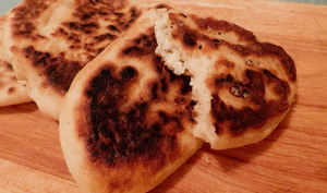 Naans au fromage