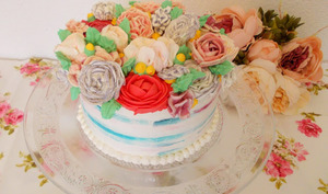 Layer cake fleuri
