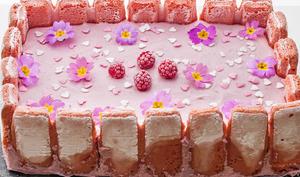 Gâteau mousseux aux framboises