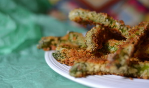 Asperges vertes panées au panko