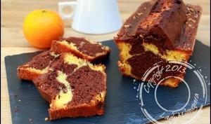 Cake marbré aux clémentines, chocolat et noisettes