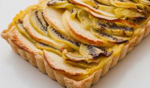 Tarte à la crème pommes kiwis