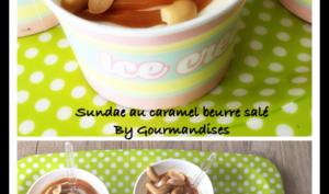 Sundae au caramel beurre salé et peanuts