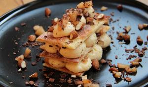 Lasagnes croustillantes poire chocolat