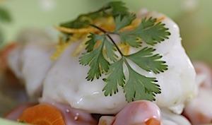 Cabillaud aux carottes fenouils et agrumes sauce velours