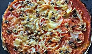 Tarte aux tomates, champignons et oignon - Basilic et potiron