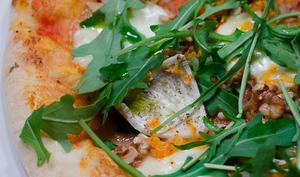 Pizza au radis noir et à la carotte